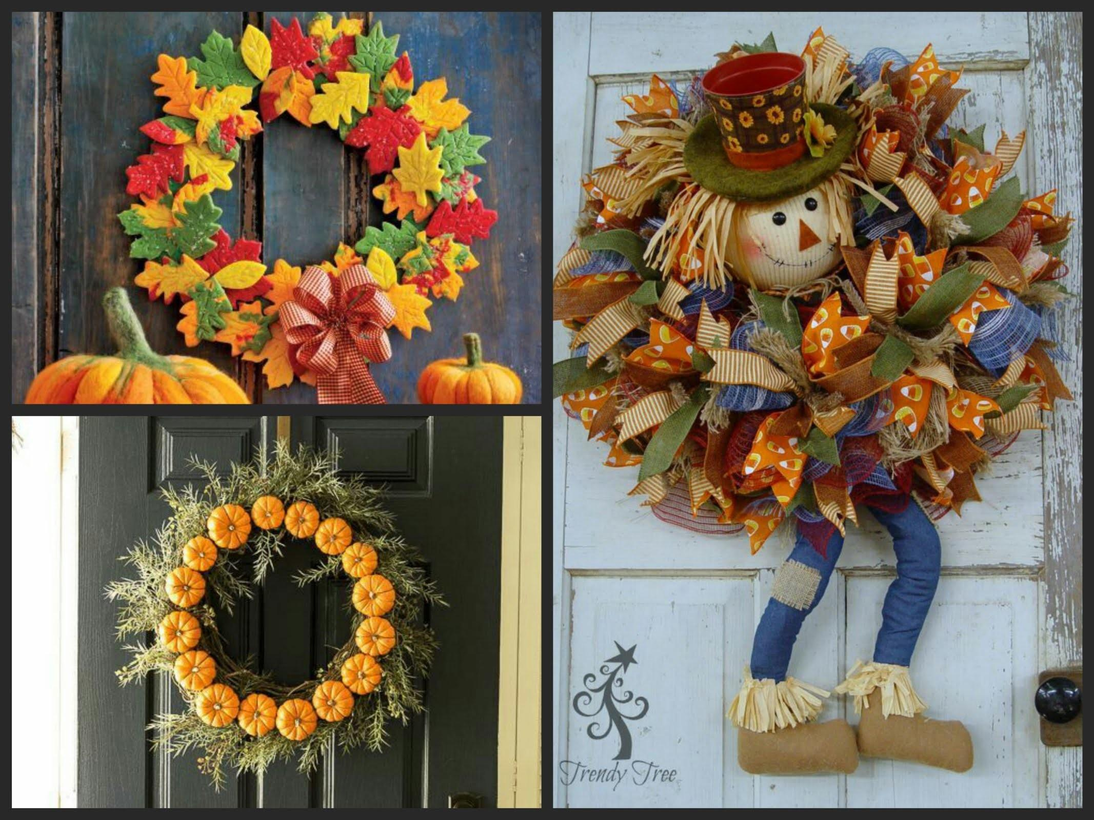 Fall Wreath Diy Inspiration Decorating Ideas