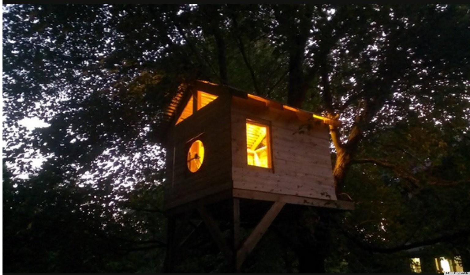 Family Builds Amazing Treehouse Less Than 300 Photos