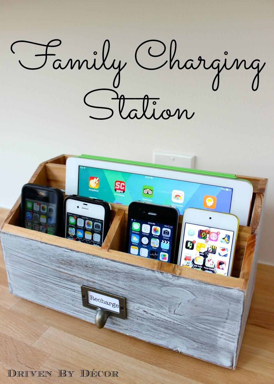 Family Charging Station Driven Decor