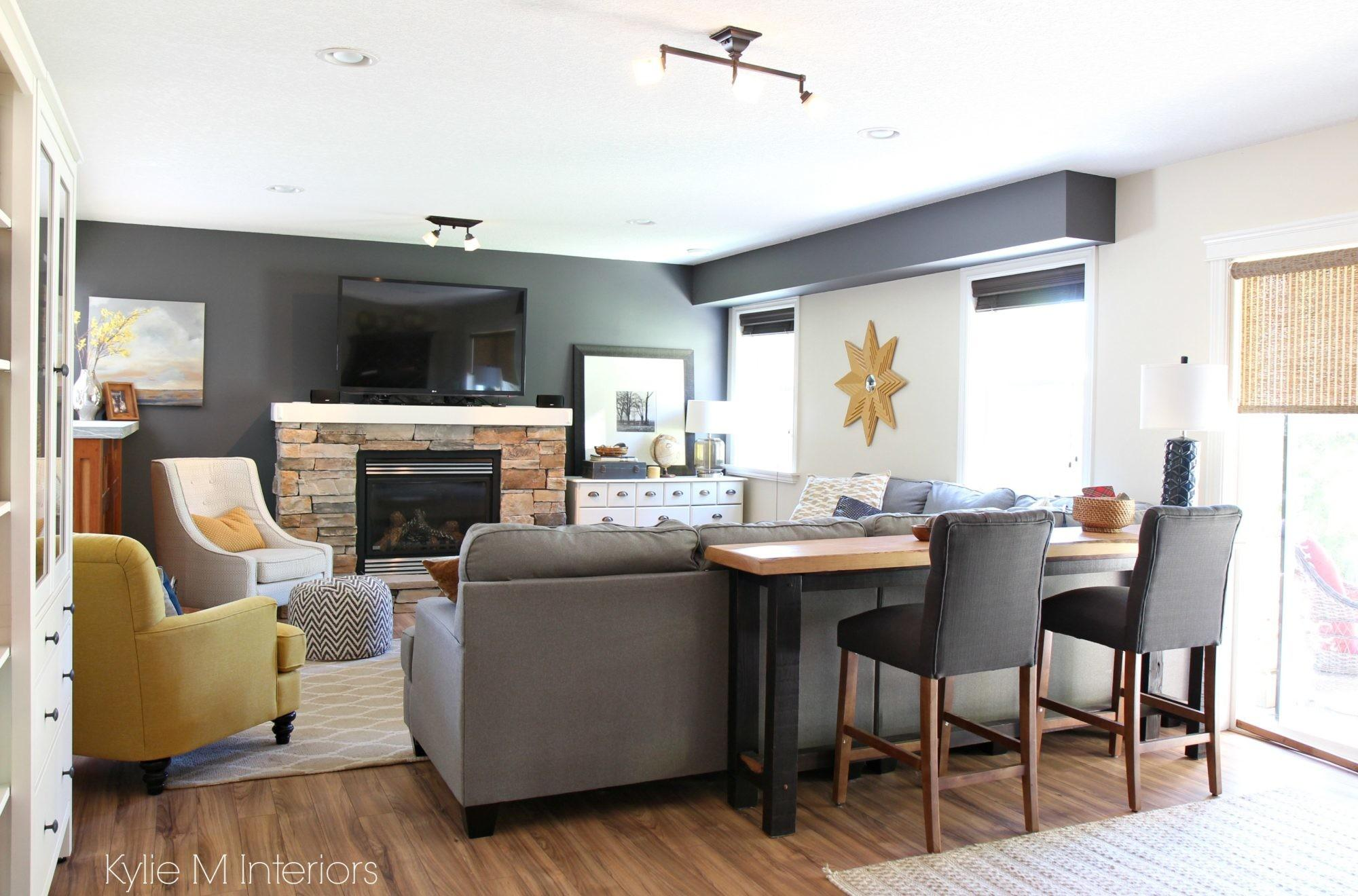 Family Room Decorating Ideas Over Stone Fireplace
