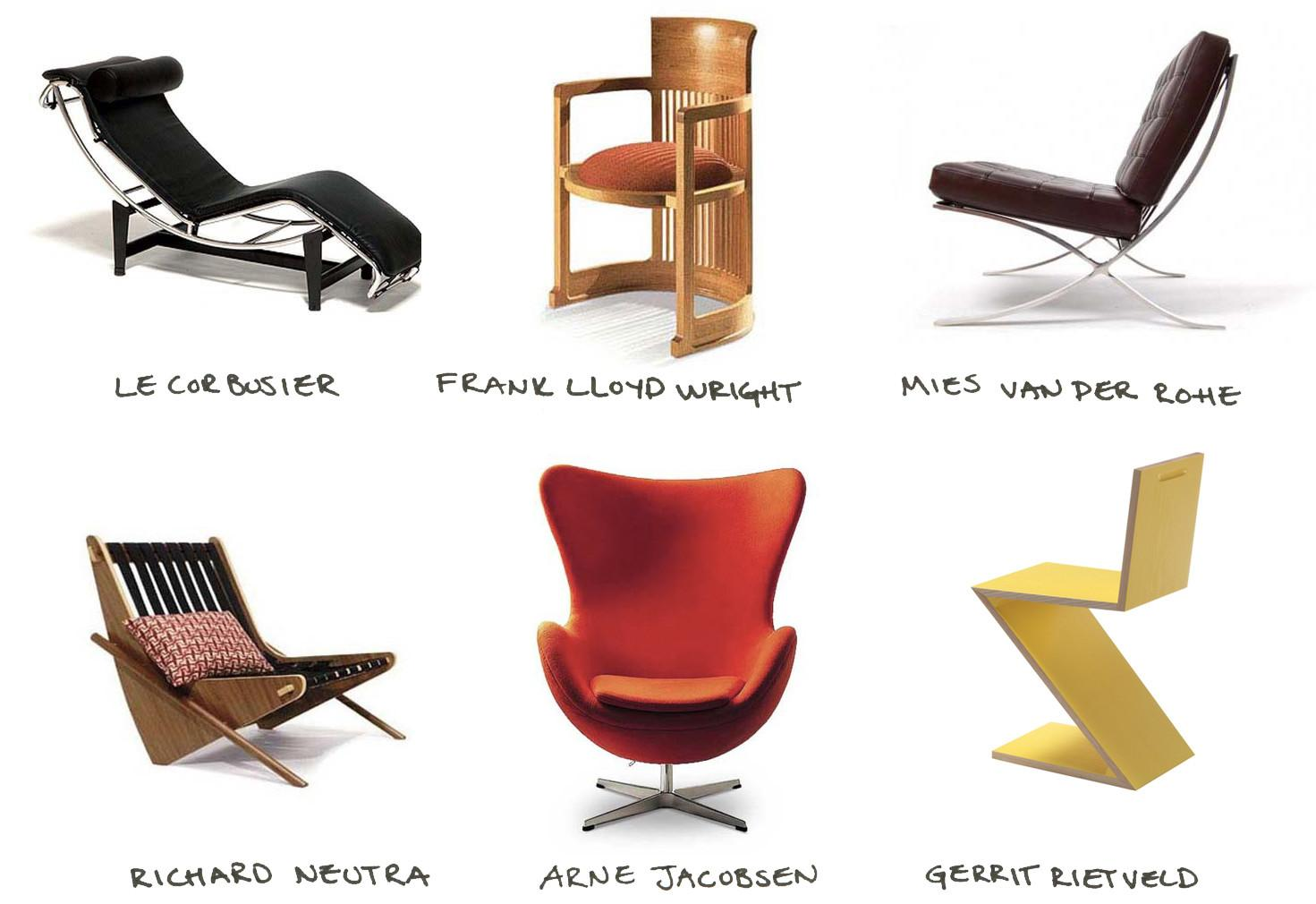 Famous Furniture Designers Chairs Designed