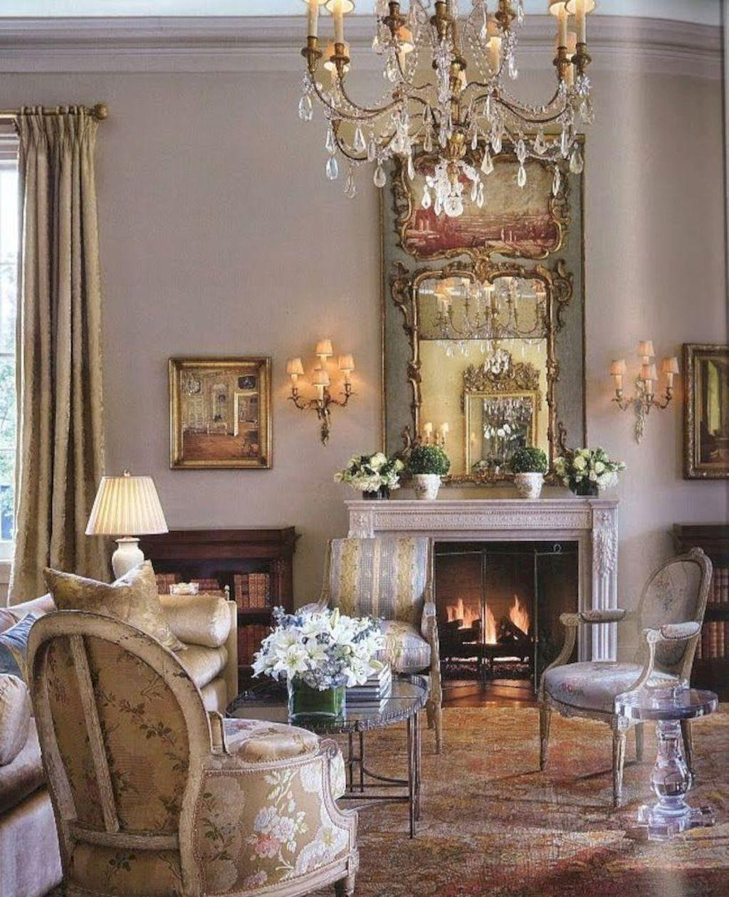 Fancy French Country Living Room Decor Ideas