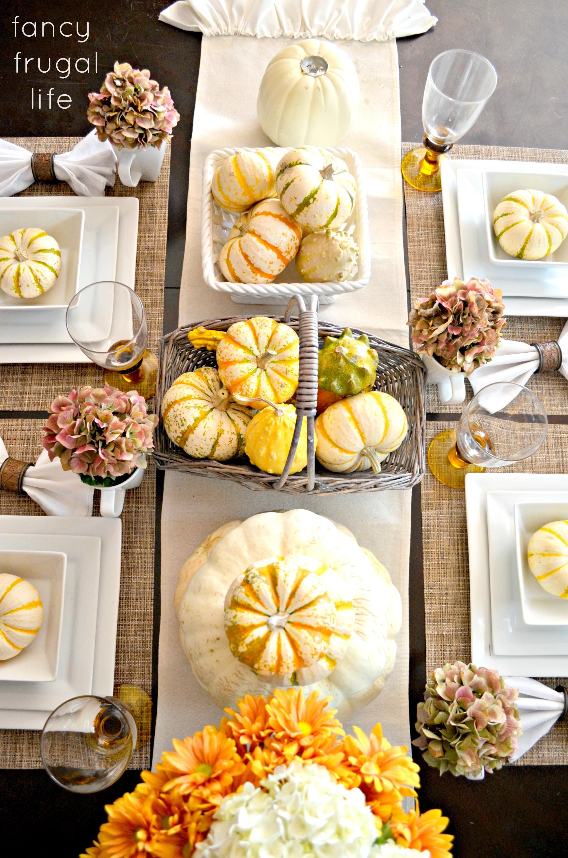 Fancy Frugal Fall Table Setting
