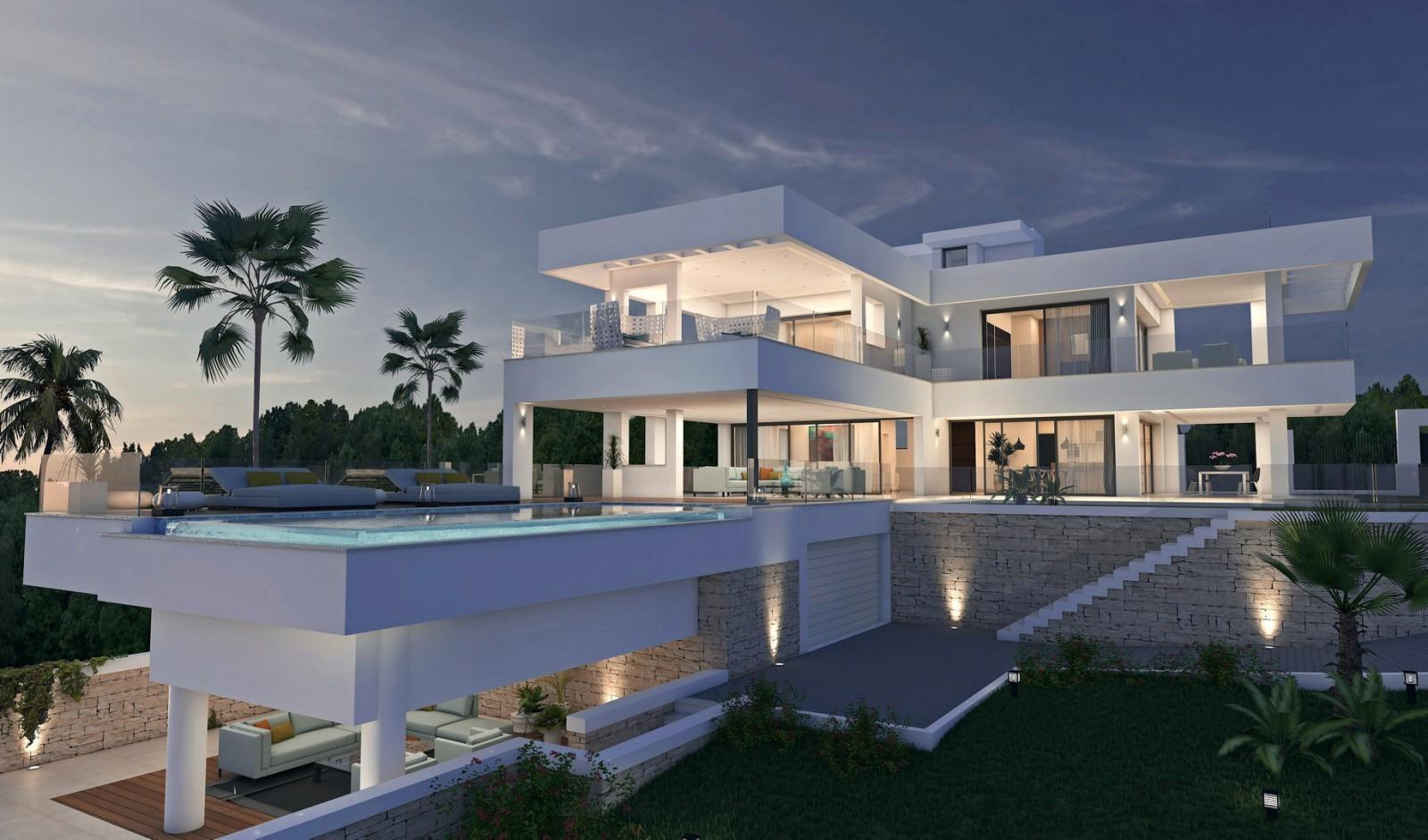 Fancy Modern Luxury Villa Design Home Decor Ideas