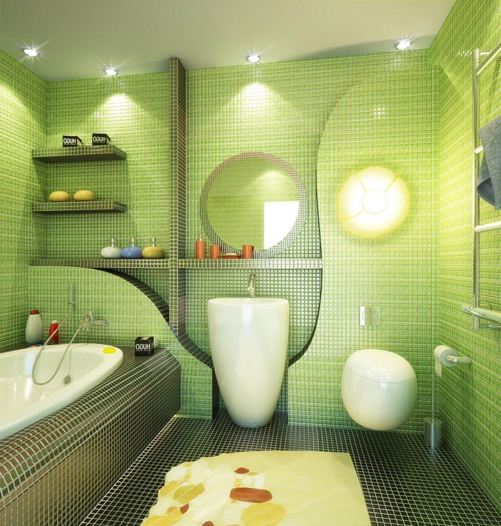 Fantastic Green Bathroom Hd9i20 Tjihome