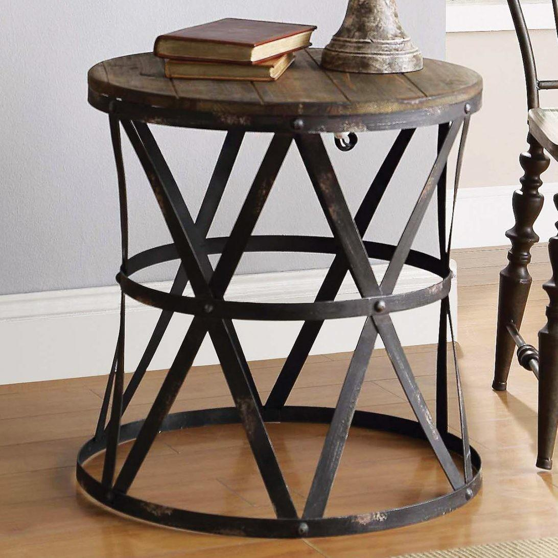 Fantastic Large Round End Table Ideas Rustic Modern