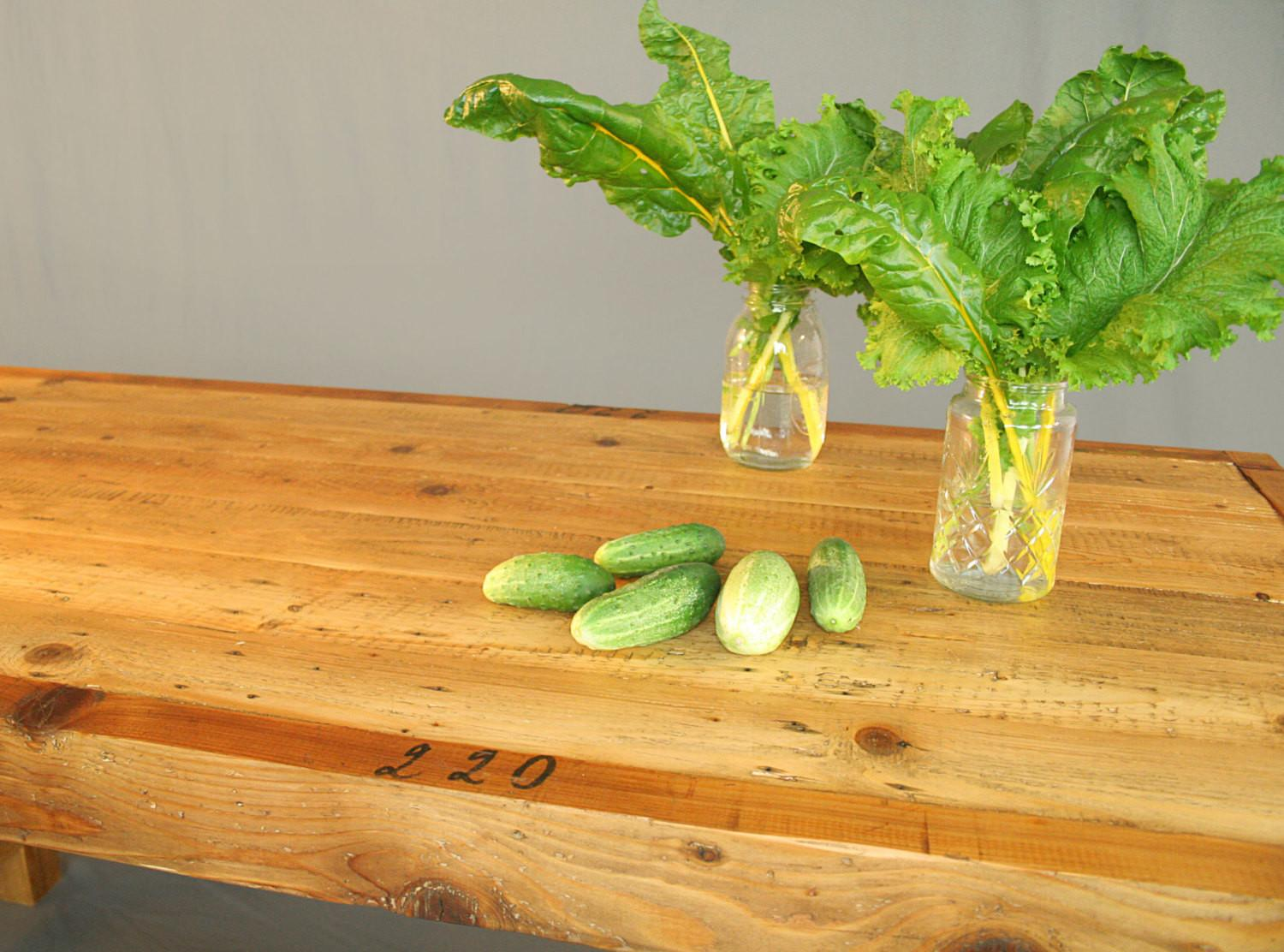 Farm Style Dining Table Reclaimed Pallet Wood Exposed