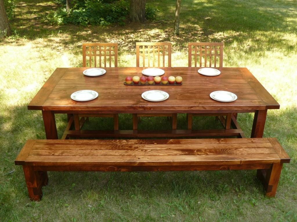 Farm Style Outdoor Dining Tables Well Groomed Chair