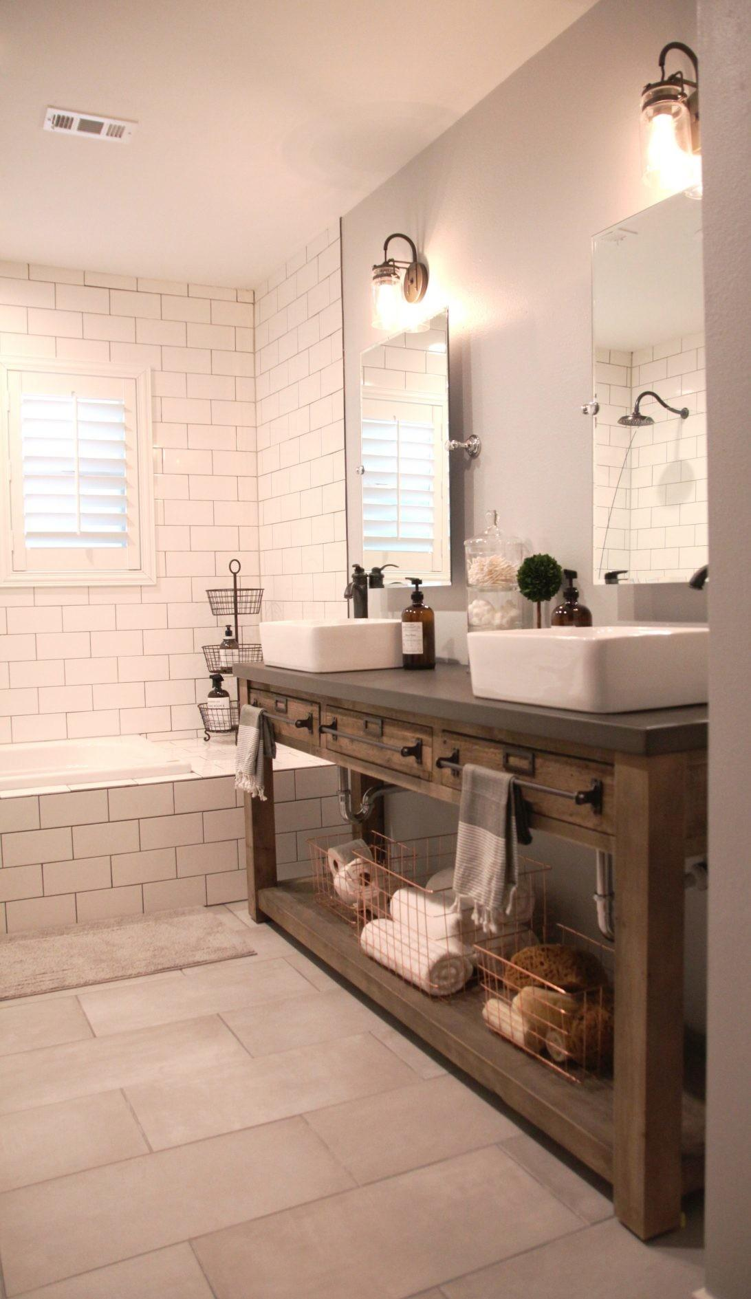 Farmhouse Bathroom Vanity Sink Industrial
