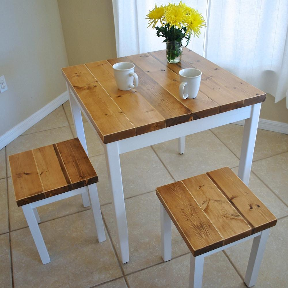 Farmhouse Breakfast Table Dining Set Without
