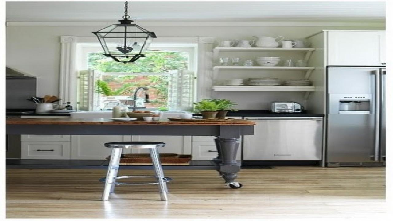 Farmhouse Kitchens Open Shelf Kitchen Island