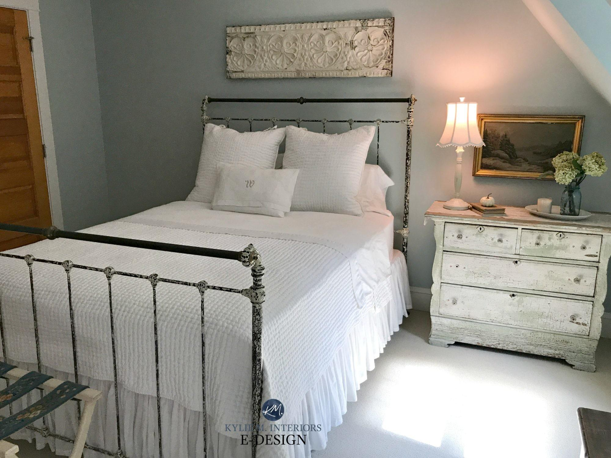 Farmhouse Metal Bed Wrought Iron Frames Bedroom