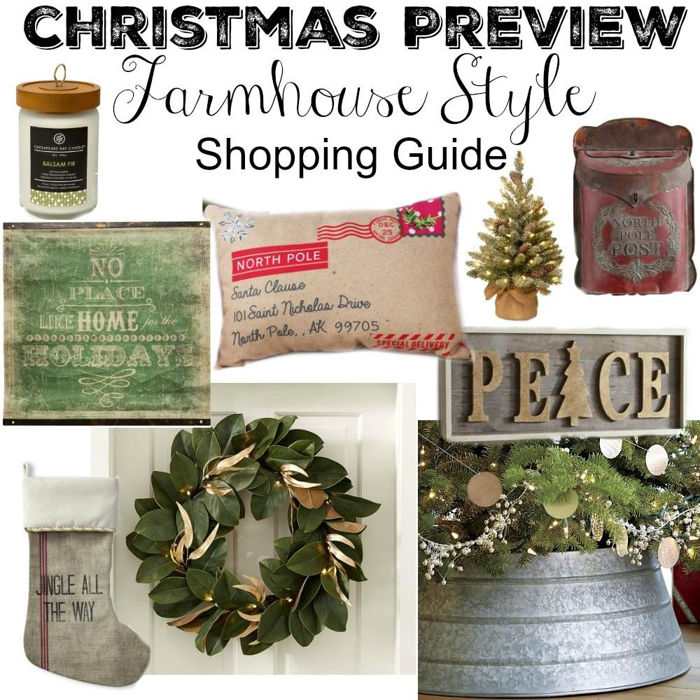 Farmhouse Style Christmas Decor Guide Little Vintage Nest