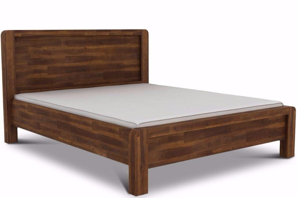 Farmhouse Style Rustic Teak Solid Wooden Bed Frame Double