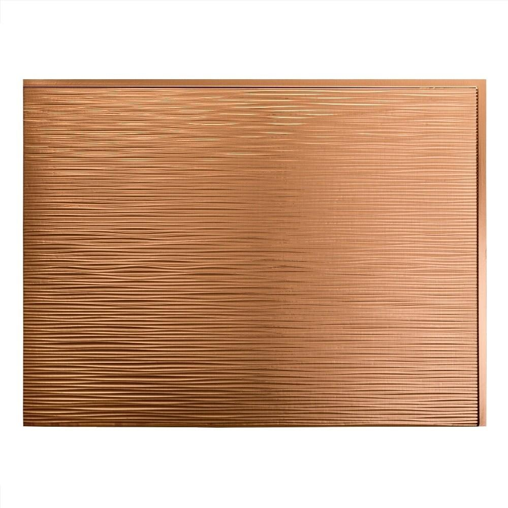 Fasade Decorative Vinyl Polished Copper Backsplash Panel