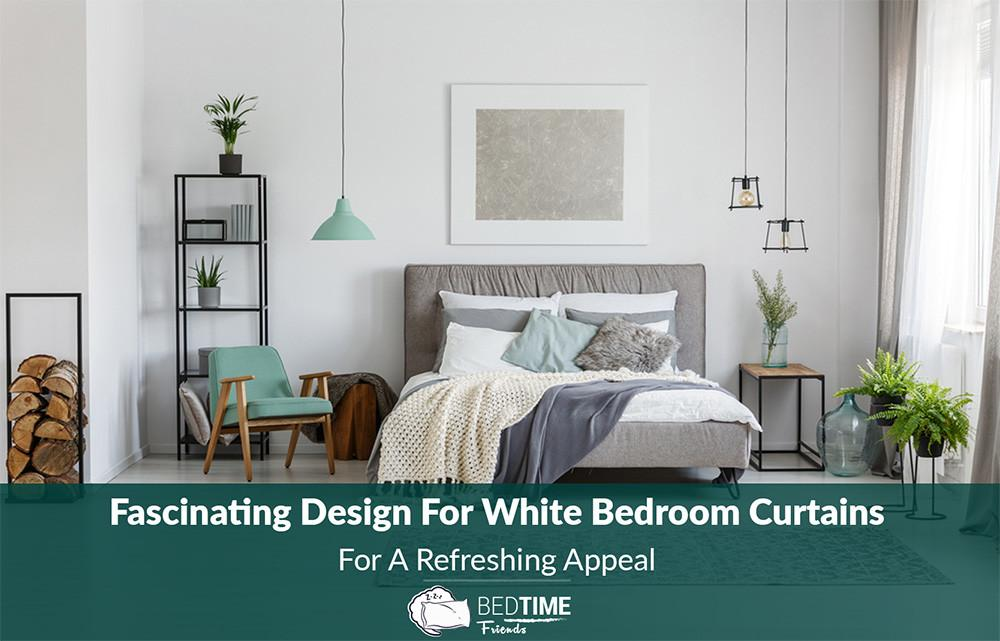 Fascinating Design White Bedroom Curtains