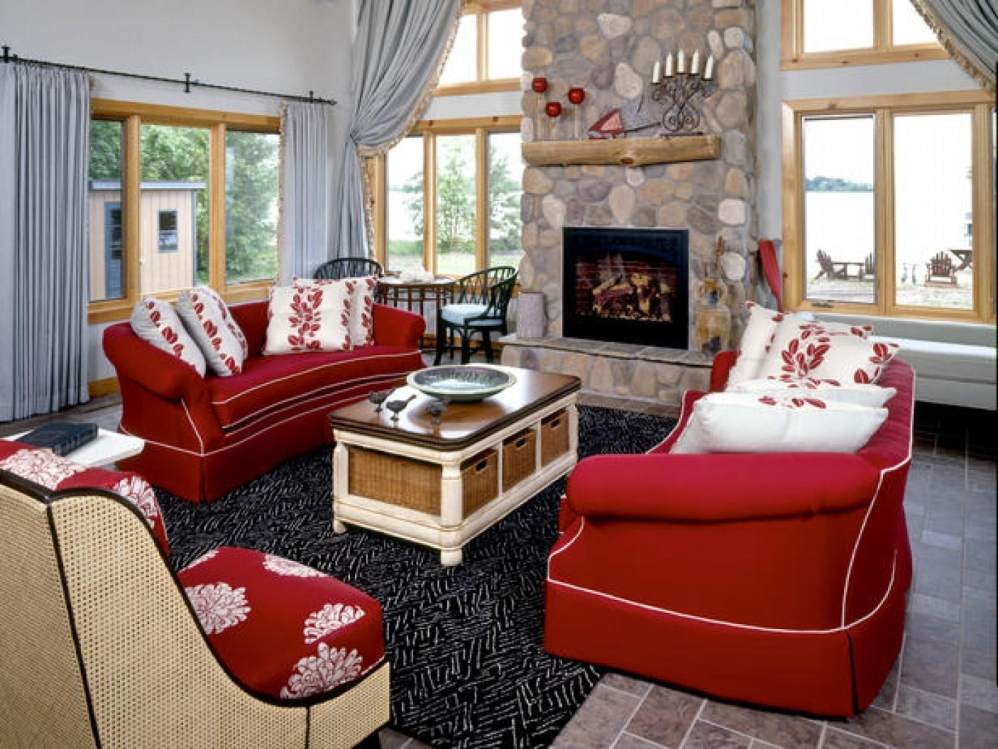 Fascinating Ideas Decorating Living Room Red Sofa