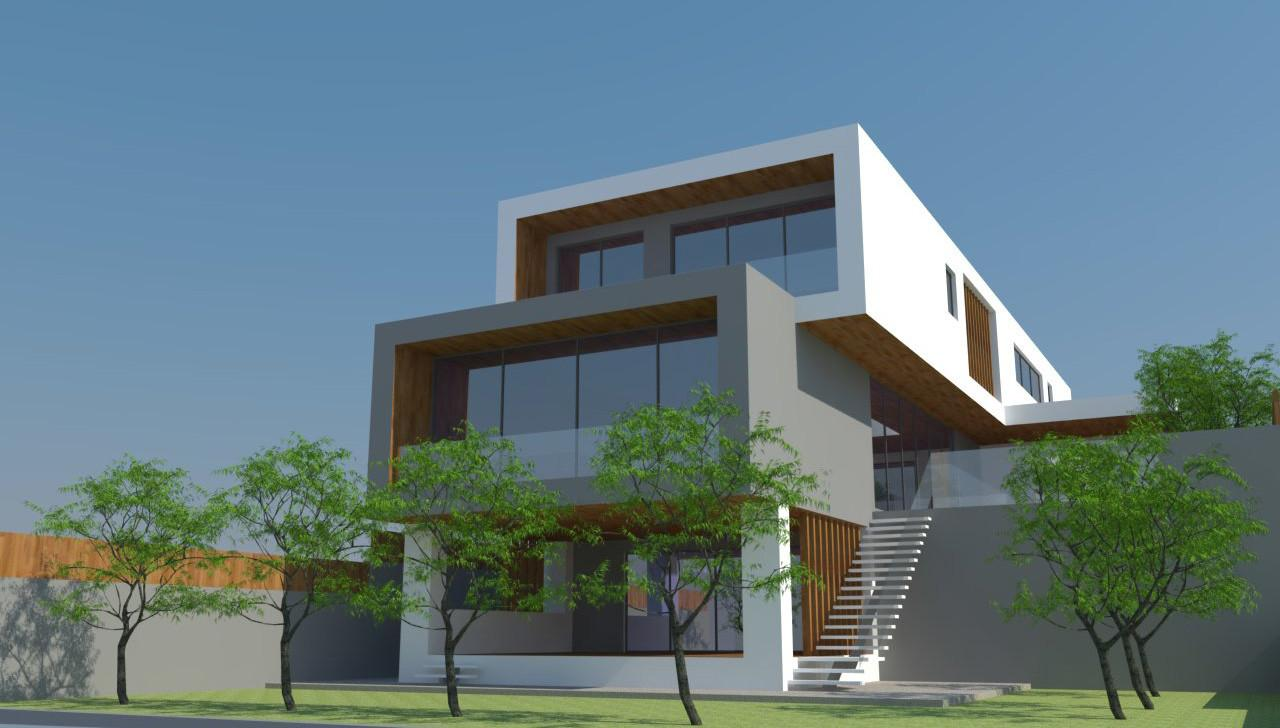 Fascinating Modern Sloping House Plans Including Steep