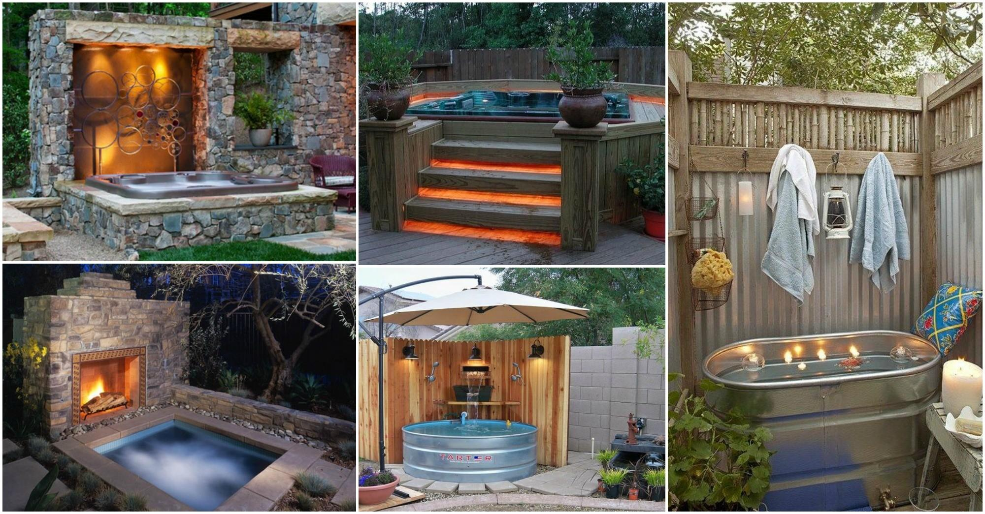 Fascinating Outdoor Hot Tubs Add Style Your Life