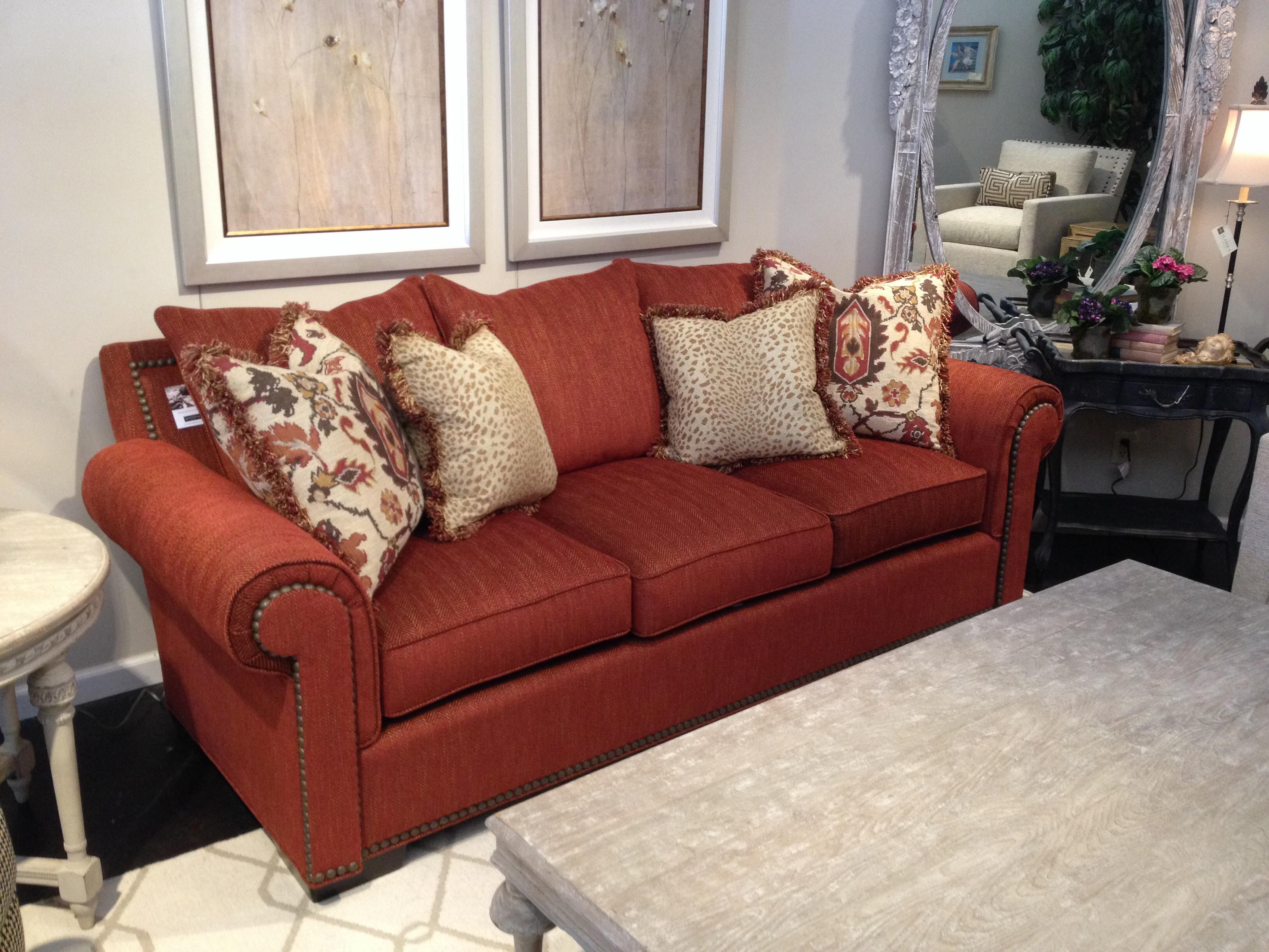 Fascinating Rust Colored Couch Awesome Room Decor