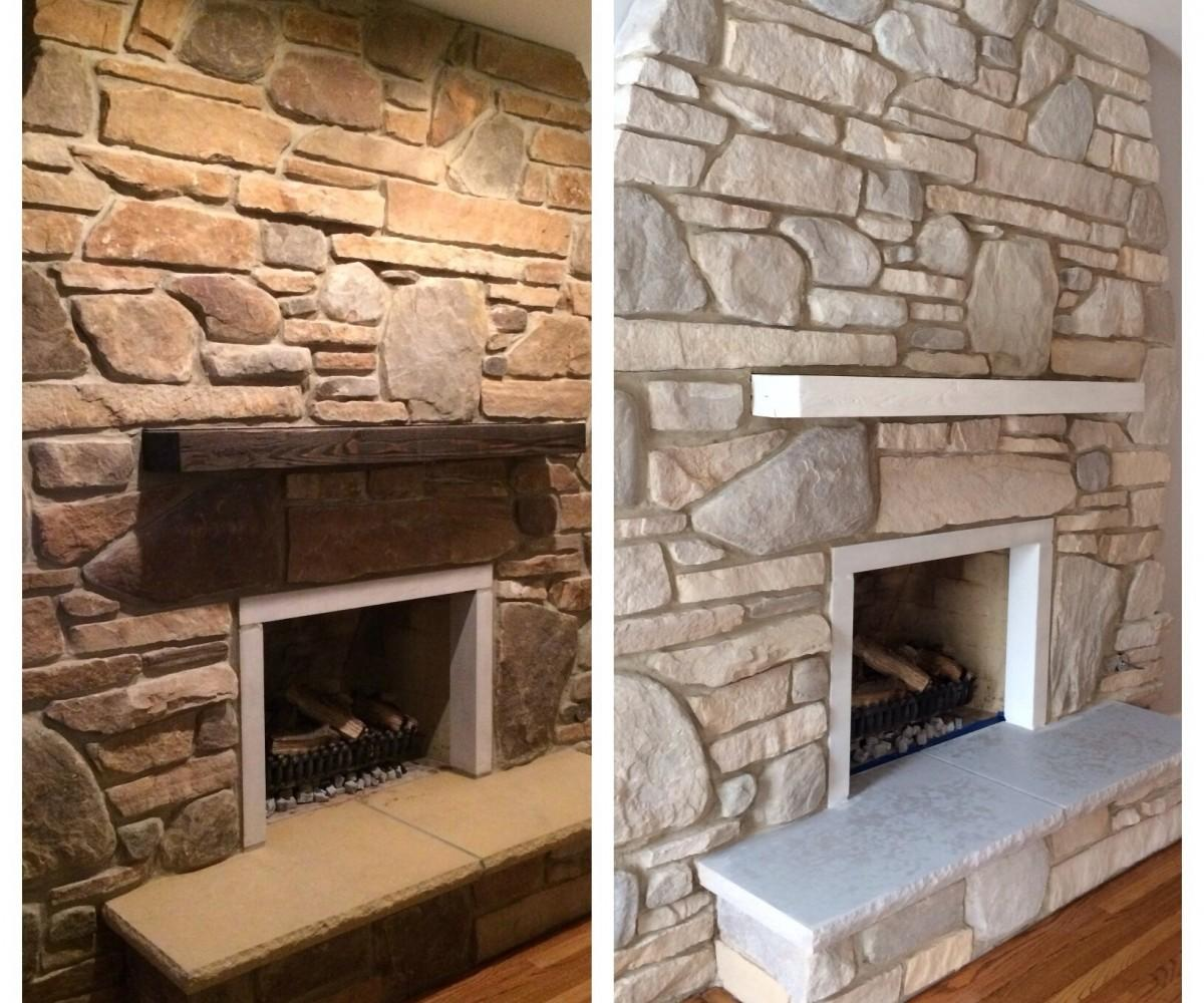 Fascinating Stack Stone Fireplace