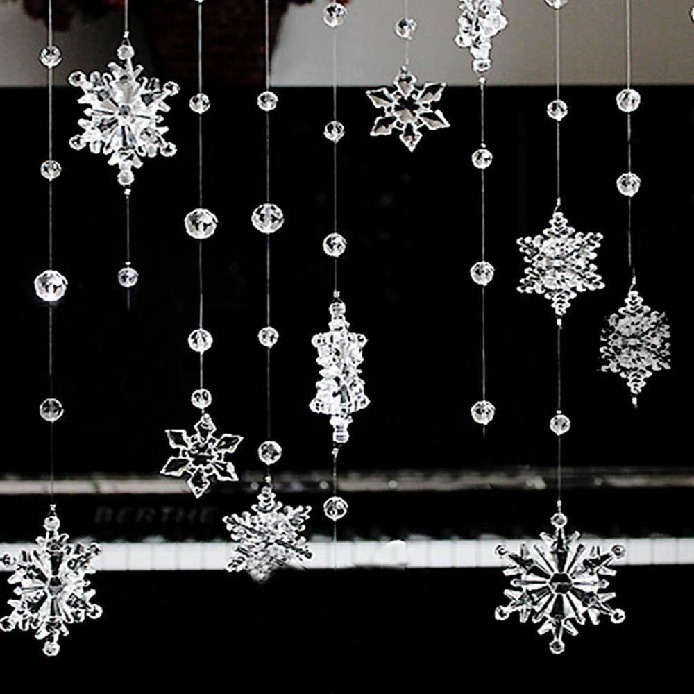 Fashion Acrylic Crystal Snowflake Bead Garland Wedding