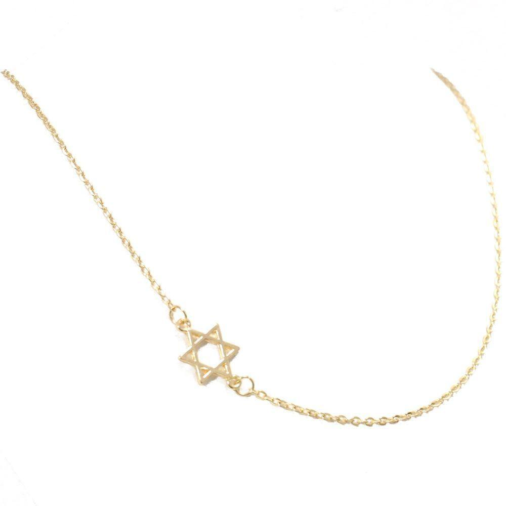 Fashion Elegant Gold Delicate Star David Modern