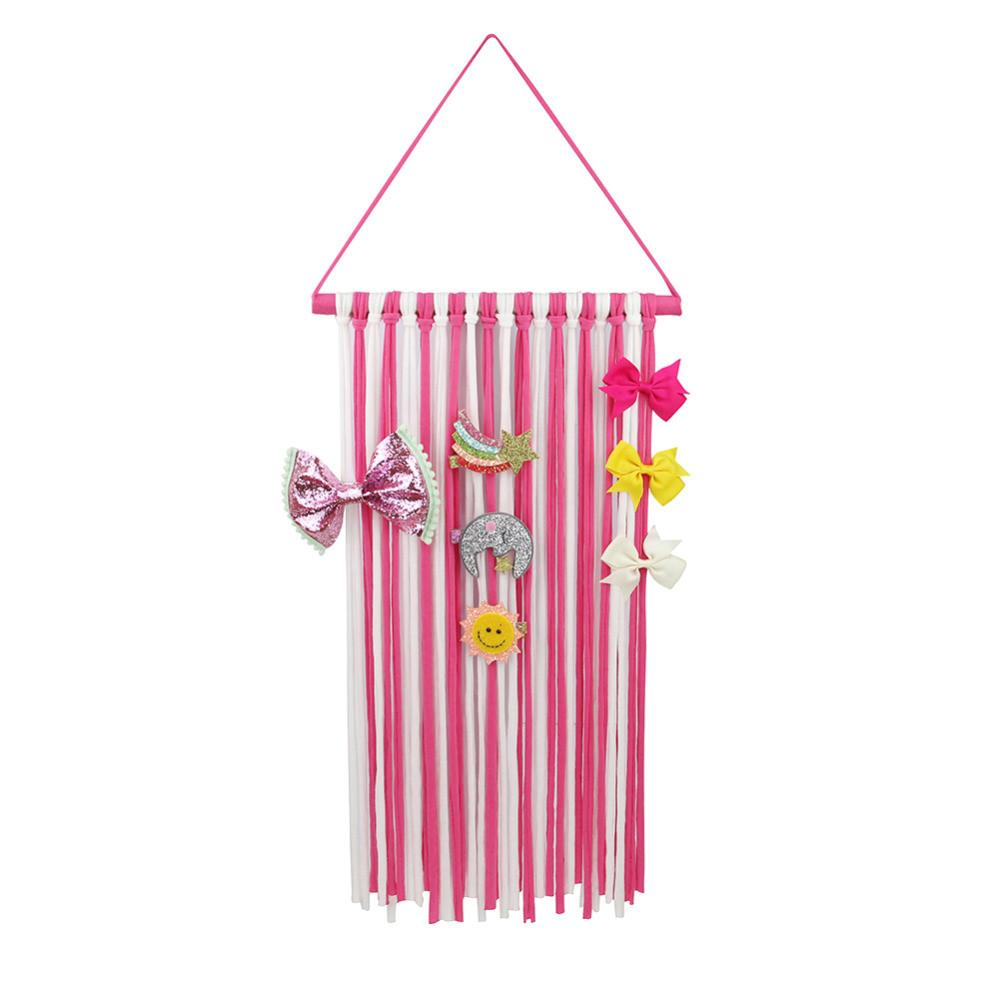Fashion Striped Ribbons Hanger Hairbow Holder Hair Bow