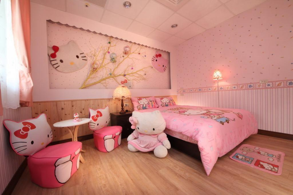 Fashionable Girls Bedroom Interior Design Hello Kitty