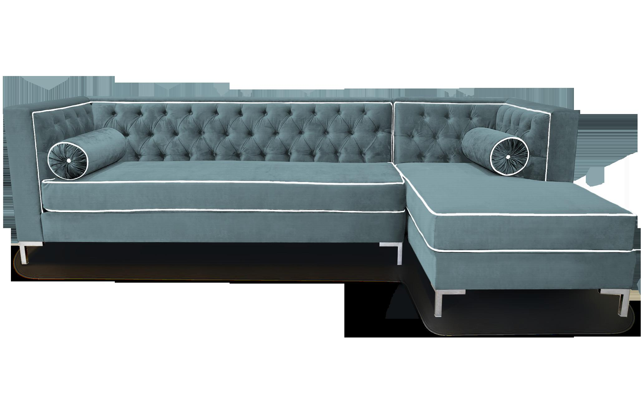 Fashionable Grey Fabric Tufted Sectional Shape Designs