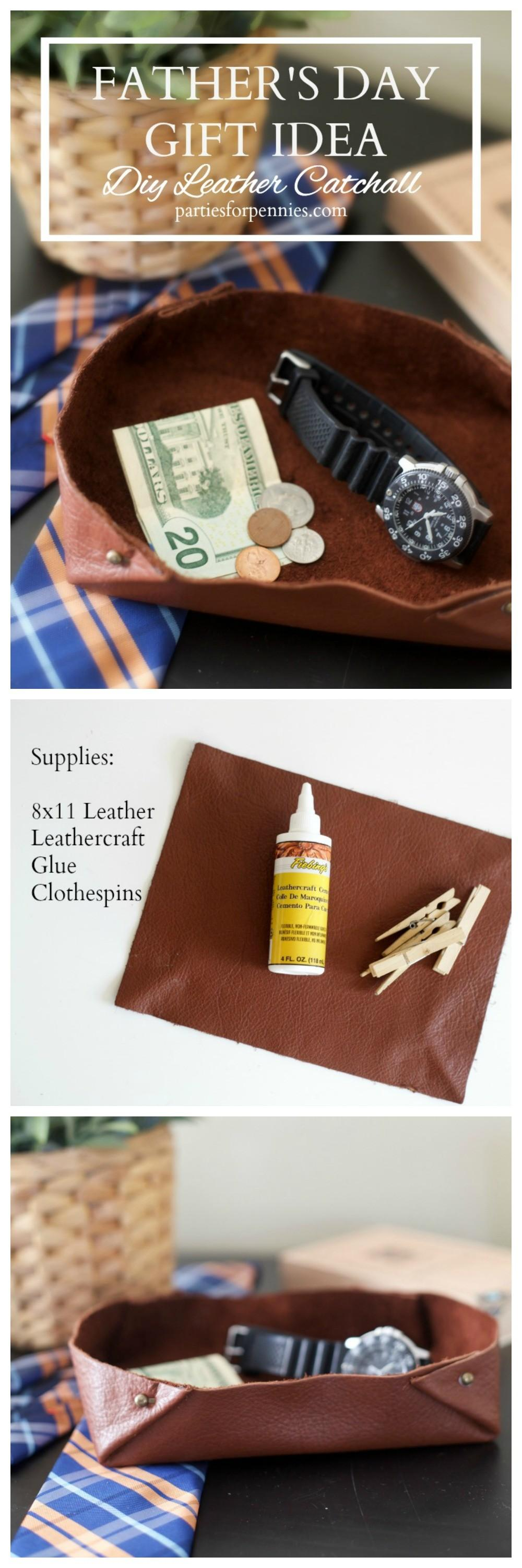 Father Day Diy Gift Leather Tray Parties Pennies