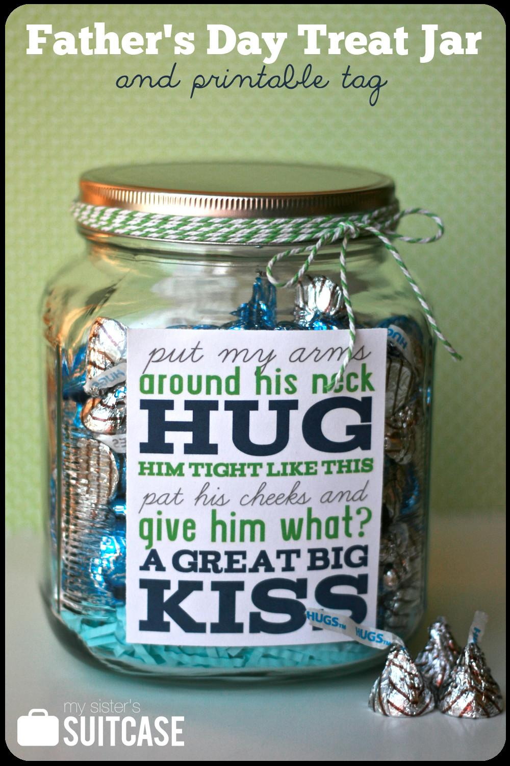Father Day Gift Treat Jar Printable Sister