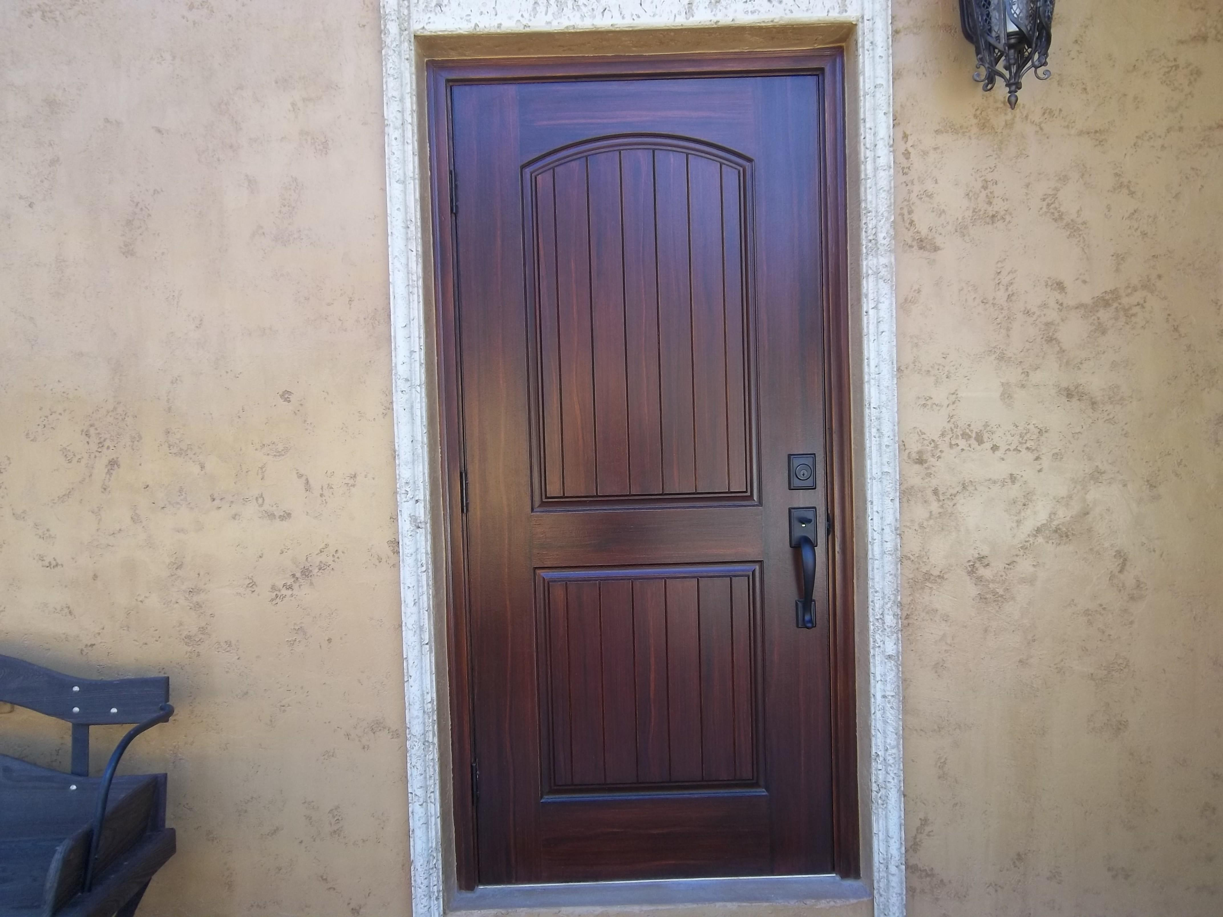 Faux Door Diy Stained Glass Woodgrain