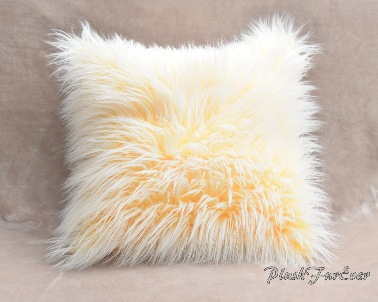 Faux Fur Home Decor Pillows Inserts Included