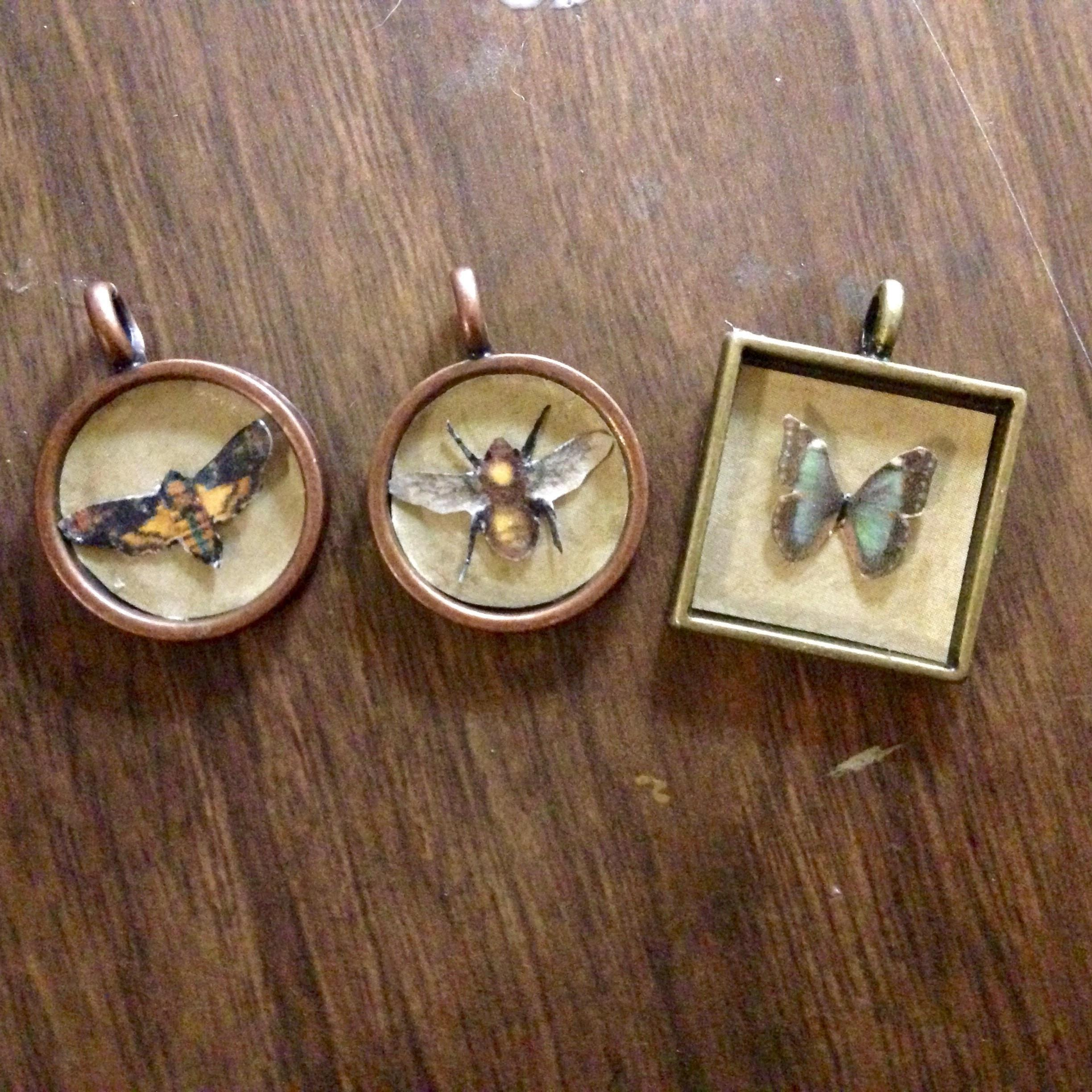 Faux Insect Curiosity Pendant Tutorial Make