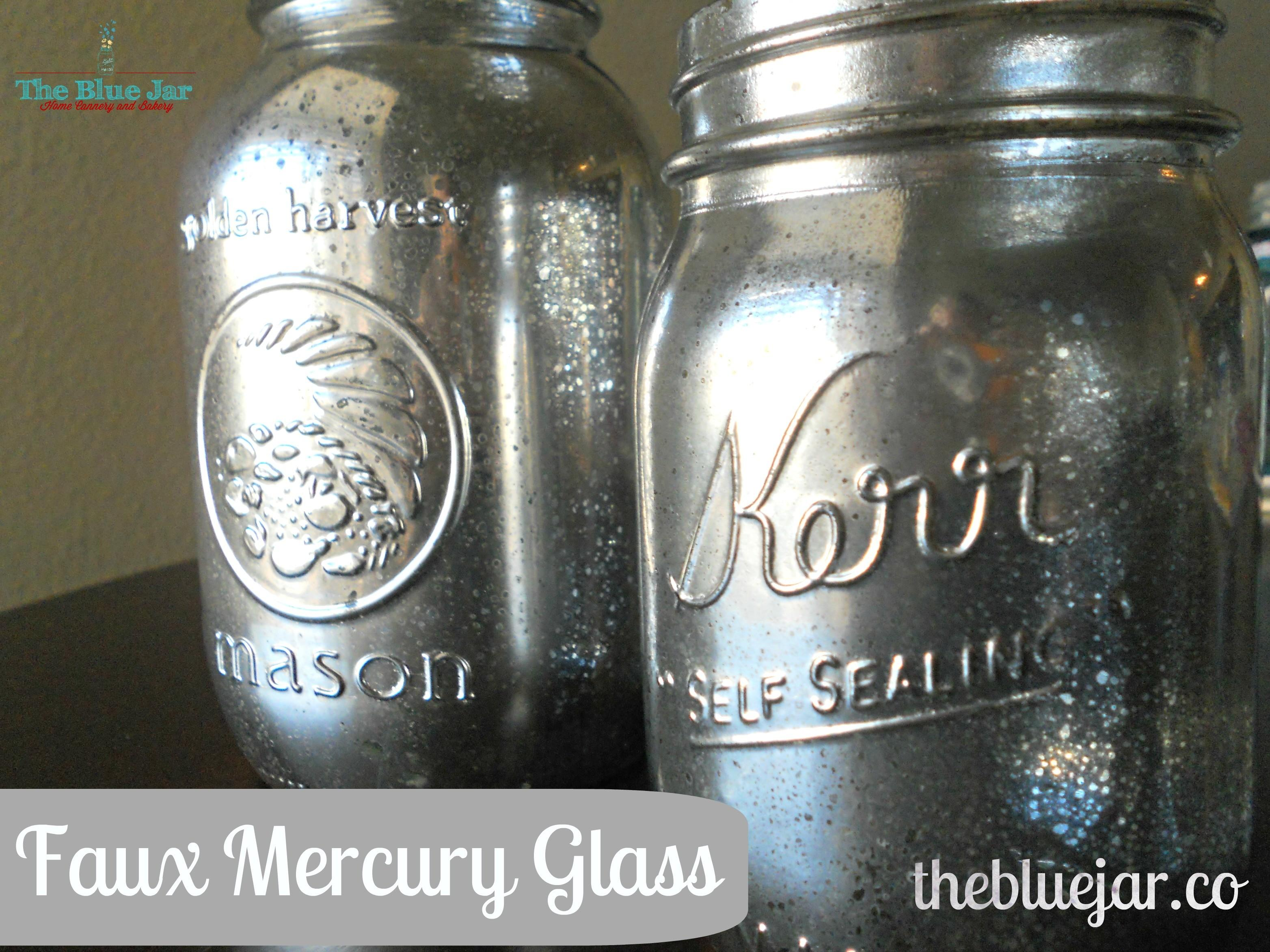Faux Mercury Glass Jars Diy Blue Jar Blog