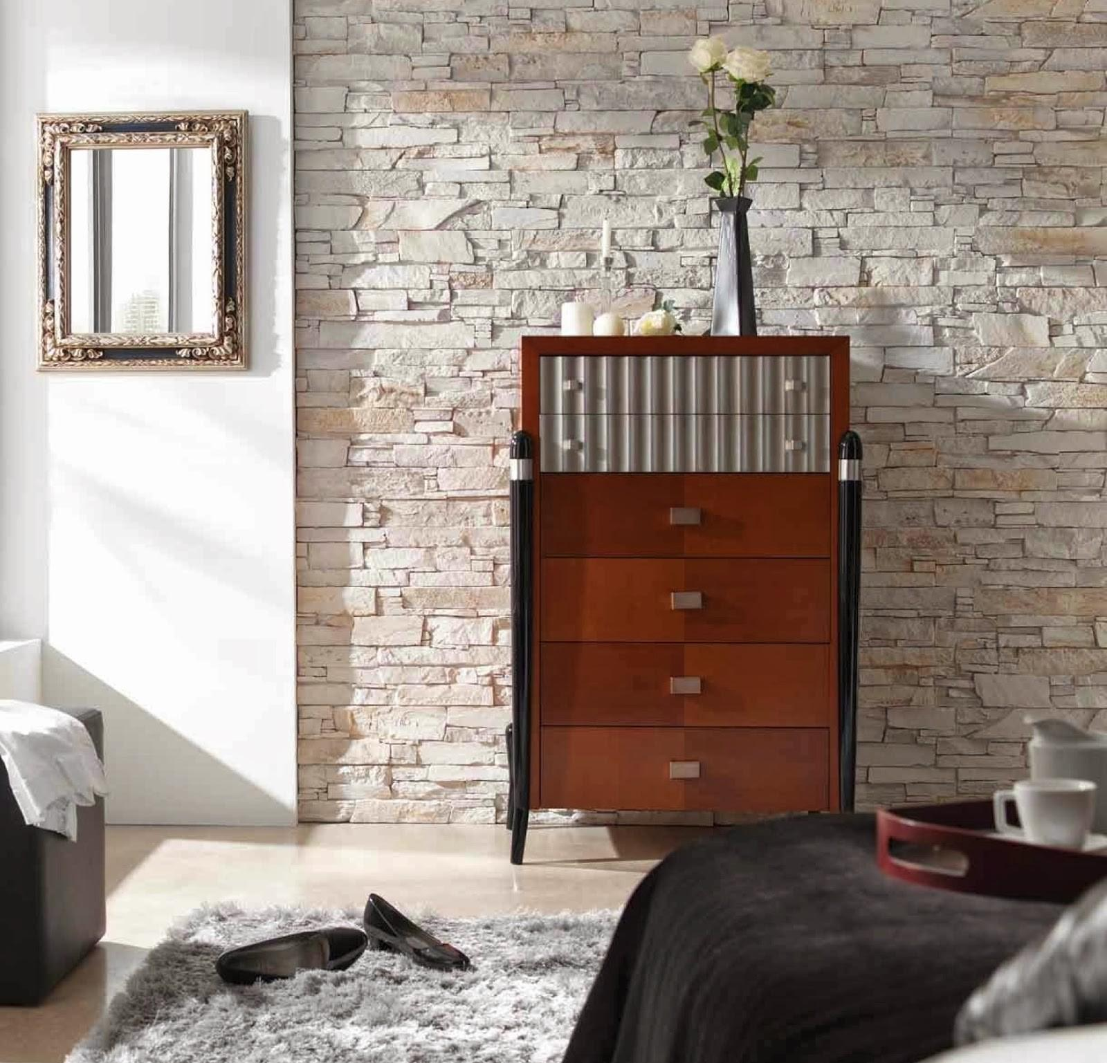 Faux Stone Wall Panels Decor Bedroom Combined