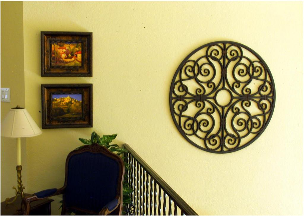 Faux Wrought Iron Wall Decor Looks Like