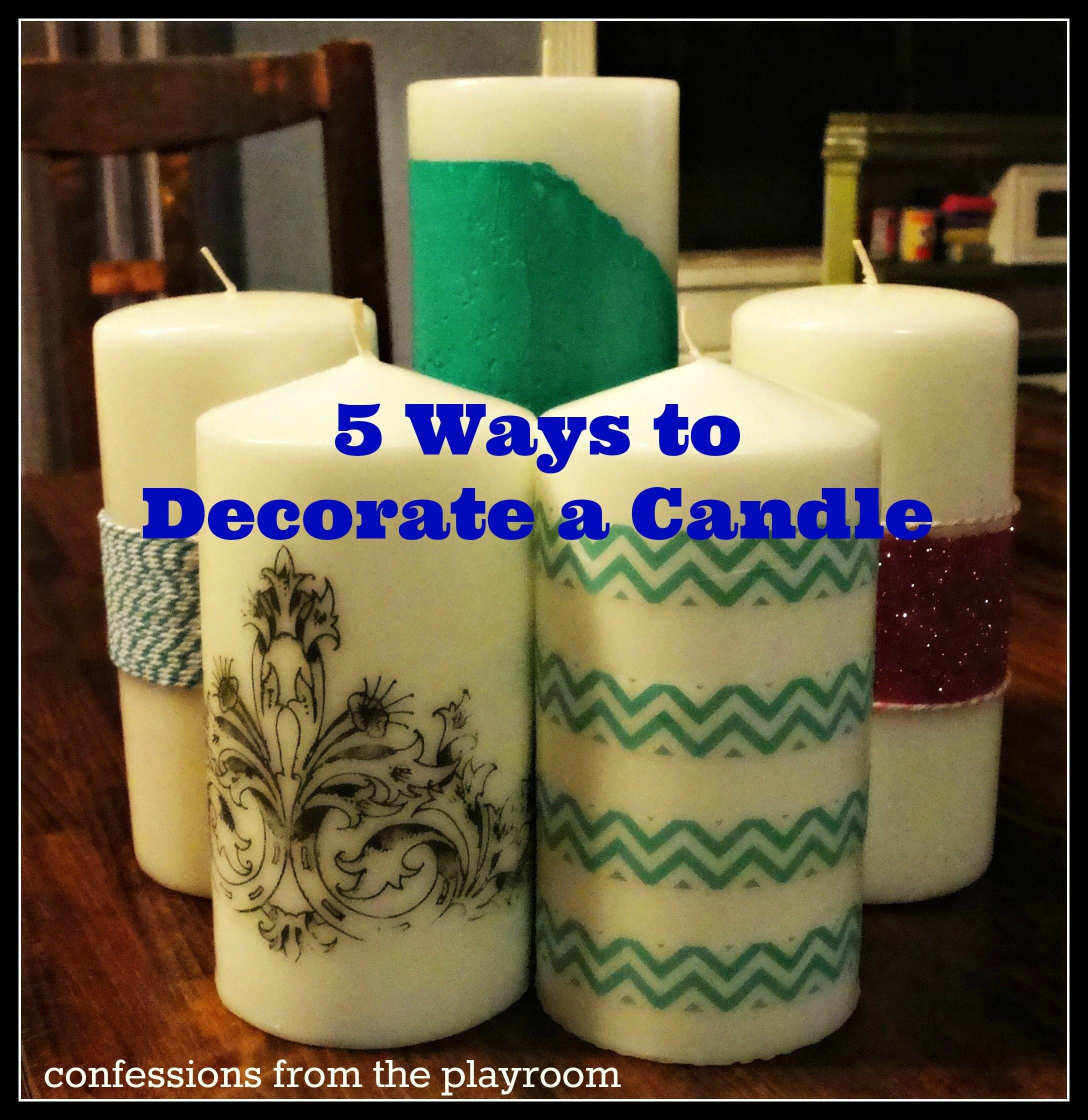 Favorite Ways Decorate Candle Confessions