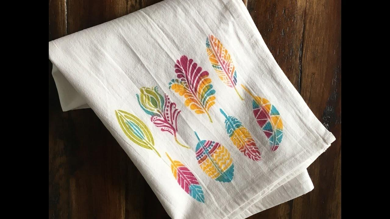 Feather Tea Towels Diy Craft Kit Crafts Projects