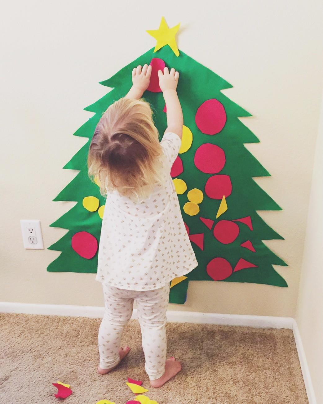 Felt Christmas Tree Easy Cheap Toddler Diy