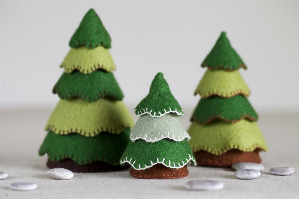 Felt Tree Sewing Pattern Diy Embroidery