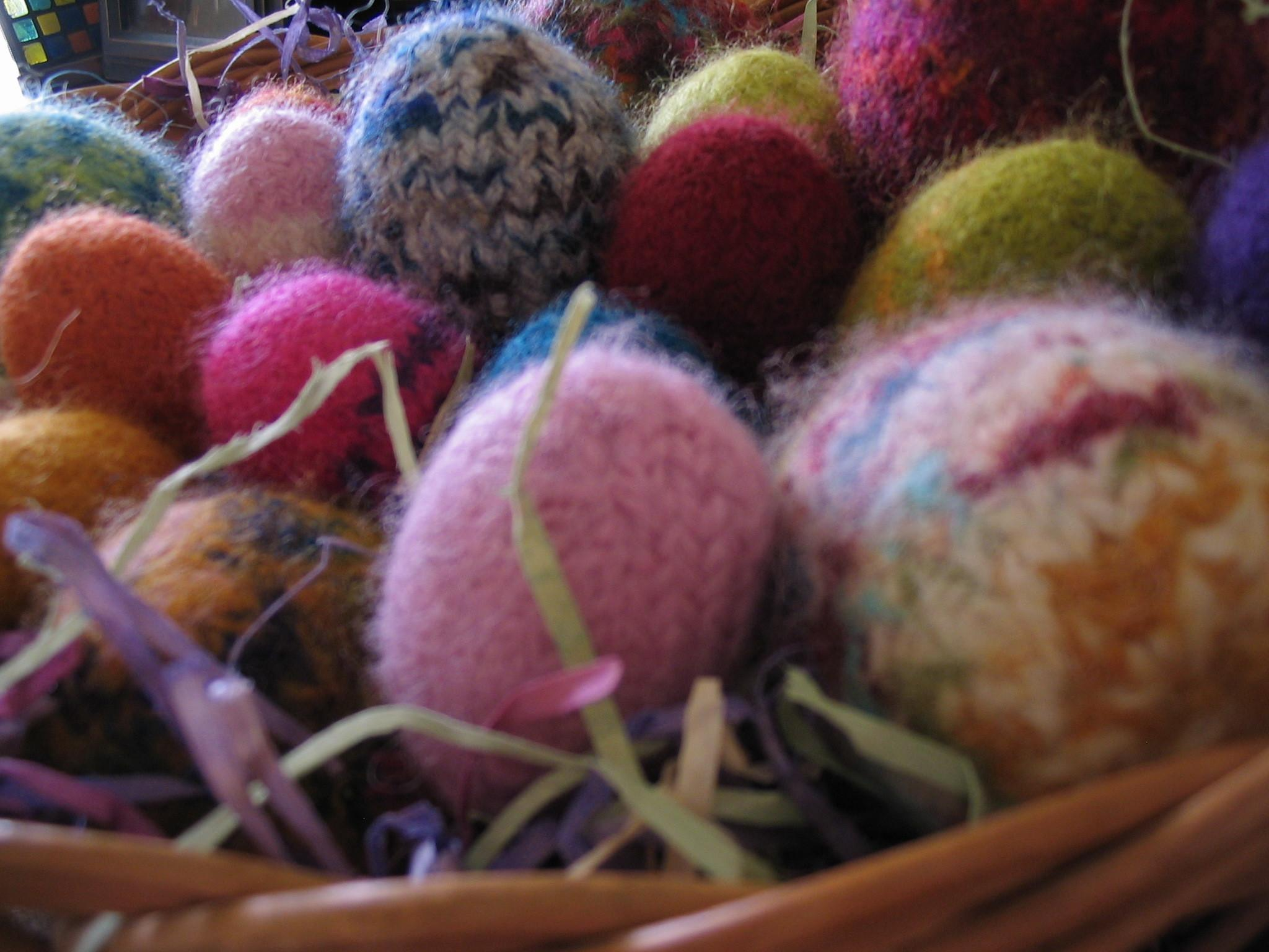 Felted Easter Eggs Create Scratch