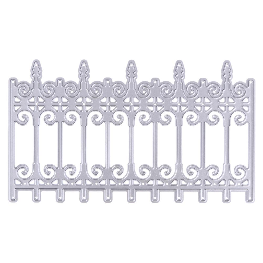 Fence Door Design Metal Die Cutting Dies Stencil Diy