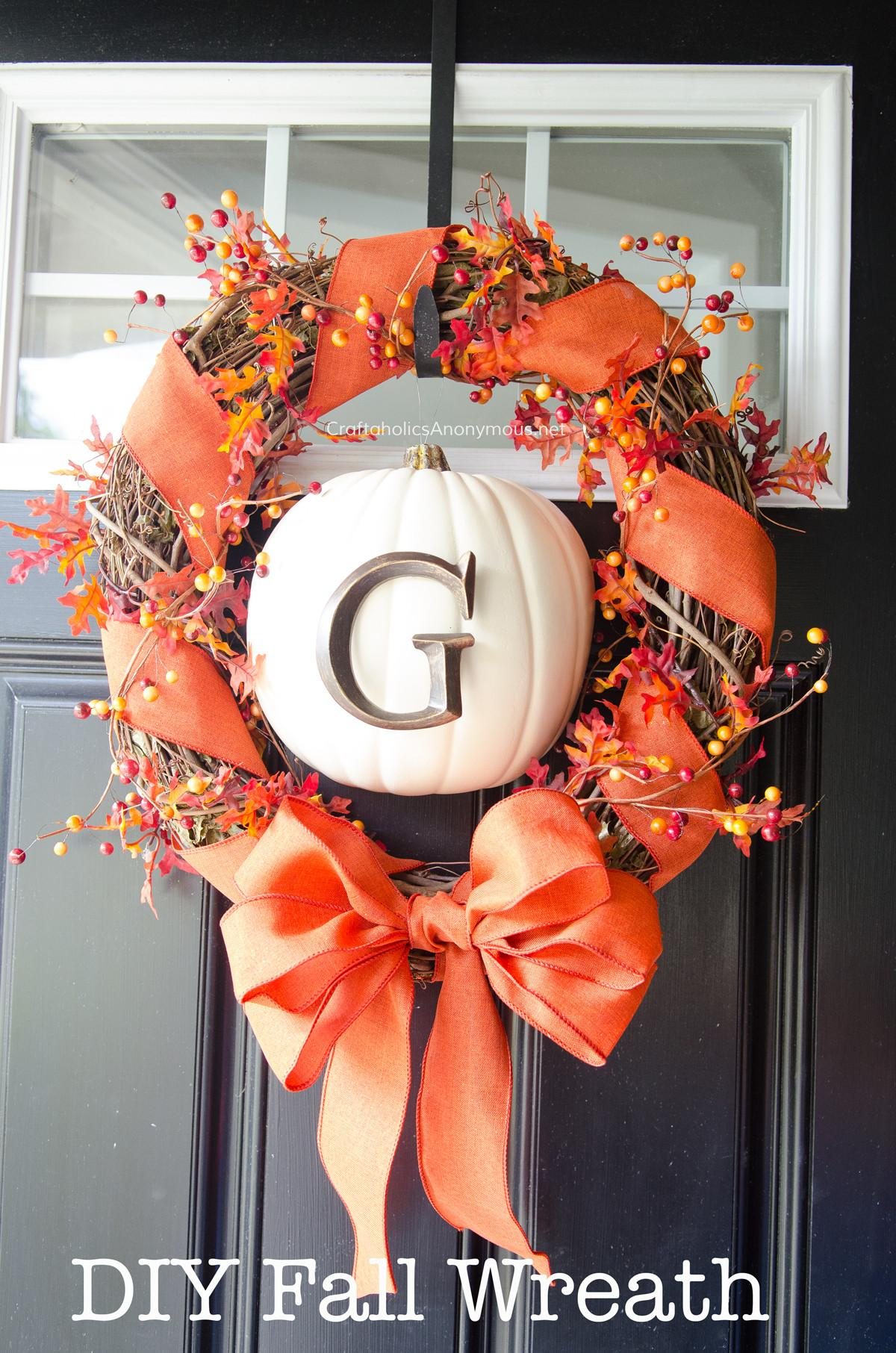 Festive Diy Fall Wreaths Hundred Affections