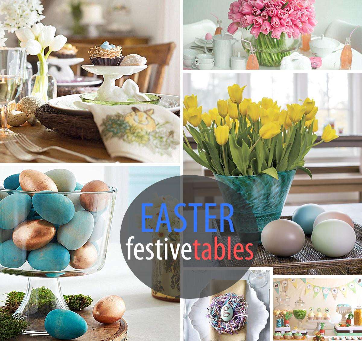 Festive Easter Table Settings