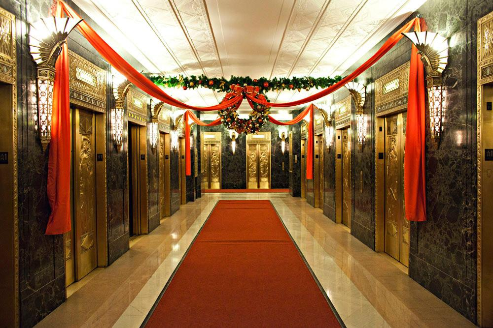 Festive Holiday Decor Offices Commercial Space