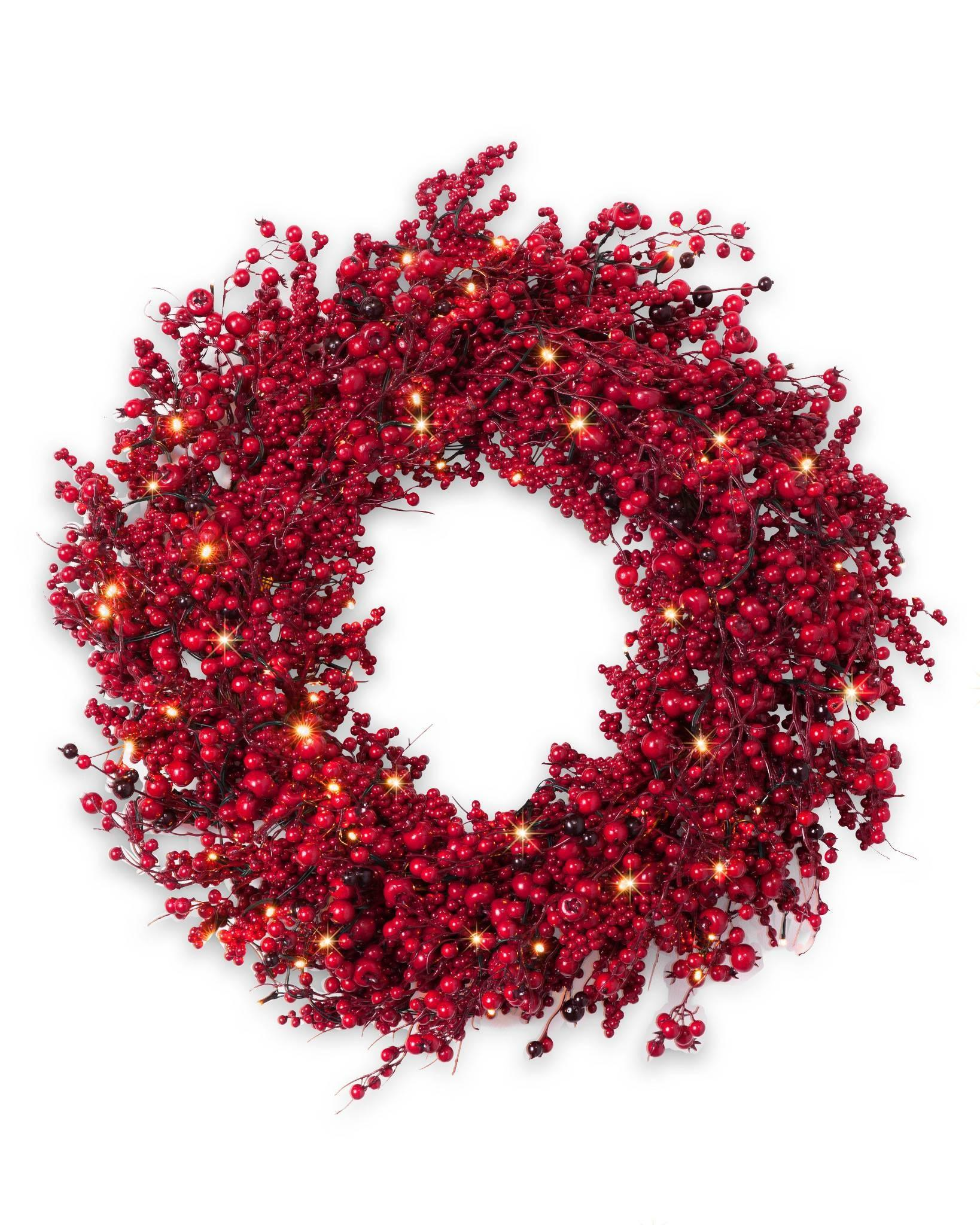 Festive Red Berry Wreath Balsam Hill