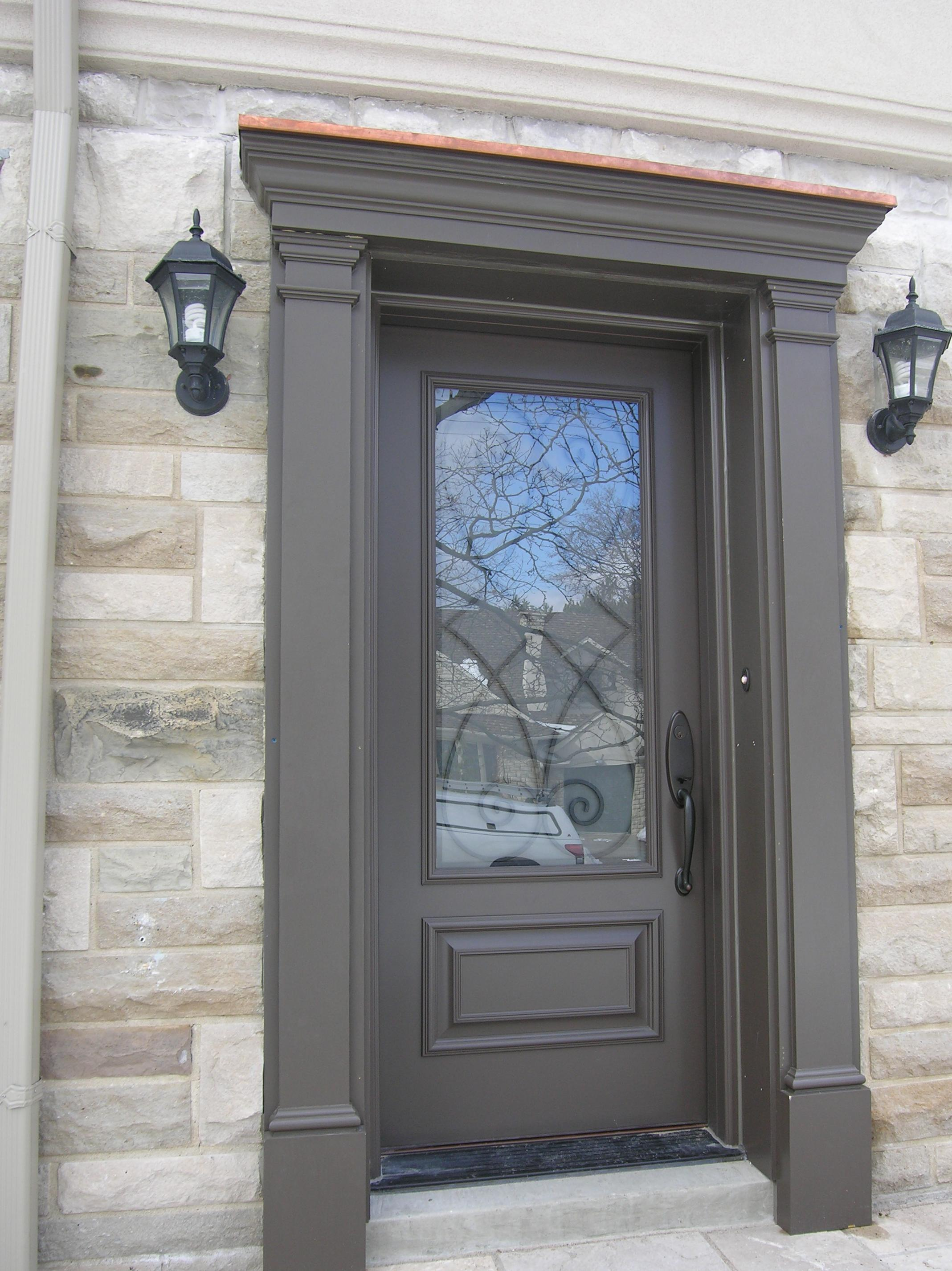 Fiberglass Door Wood Exterior Custom