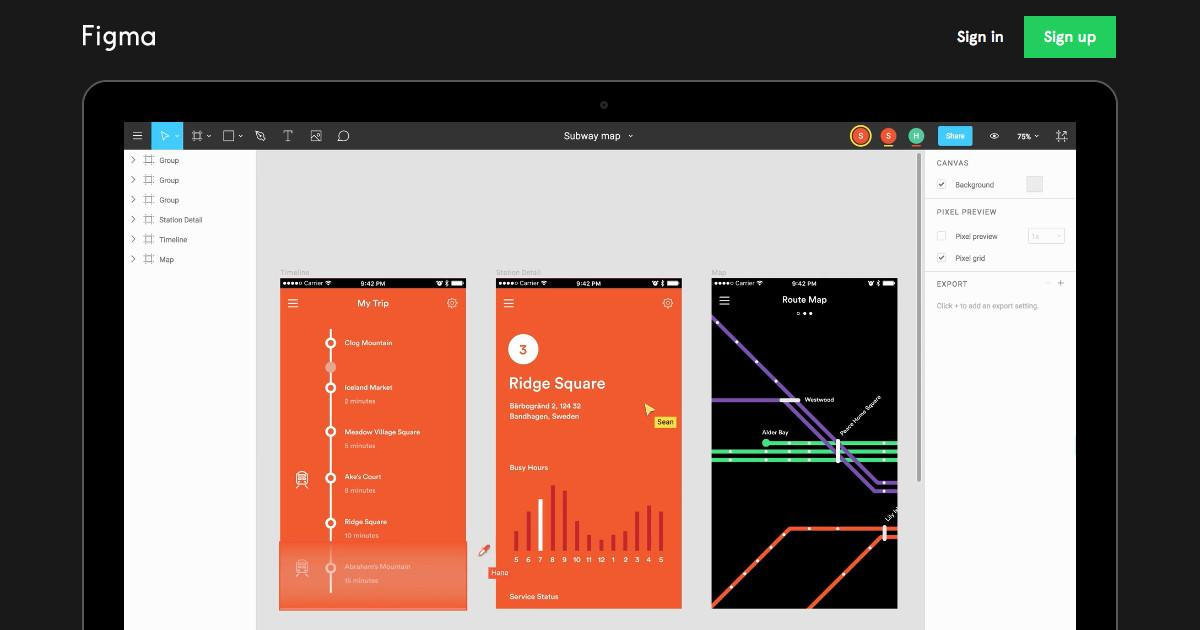 Figma Collaborative Interface Design Tool Shawn